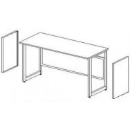 Боковые короба для установки в рамное основание (2шт.) ЛАБ-PRO БККн (к низкому столу)